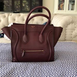 Authentic Celine micro luggage tote
